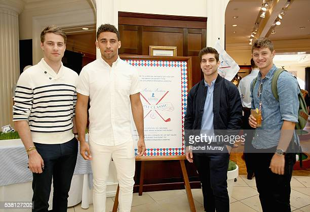 Actor Cameron Fuller guest actor David Bernon and guest attend Brooks Brothers Mini Classic to Benefit St Jude Children's Research Hospital at Brooks...