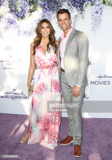 Actor Cameron Mathison and Arevalo Vanessa attend the 2018 Hallmark Channel Summer TCA at Private Residence on July 26 2018 in Beverly Hills...