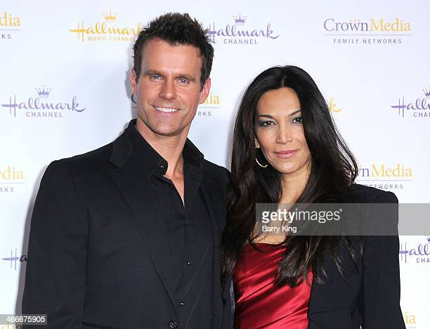Actor Cameron Mathison and his wife Vanessa Arevalo arrive at the Hallmark Channel Hallmark Movie Channel 2014 Winter TCA Party on January 11 2014 at...