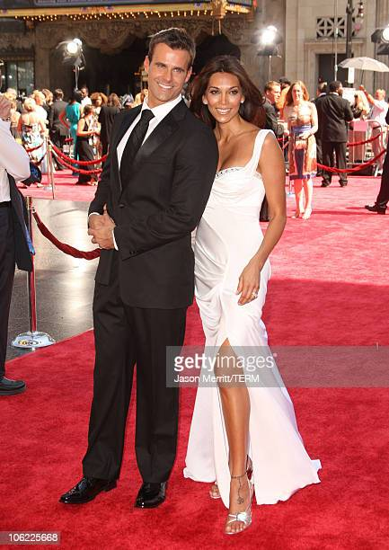 Actor Cameron Mathison and his wife Vanessa Arevalo arrive to The 35th Annual Daytime Emmy Awards at the Kodak Theatre on June 20, 2008 in Los...