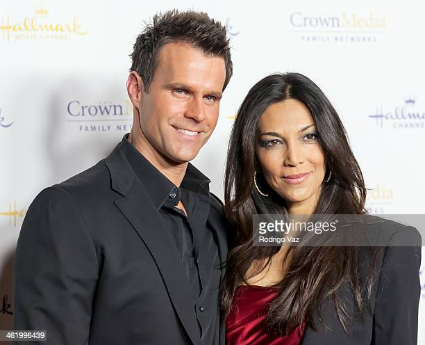 Actor Cameron Mathison and his wife Vanessa Arevalo arrives at the Hallmark Channel Hallmark Movie Channel 2014 Winter TCA Party at The Huntington...