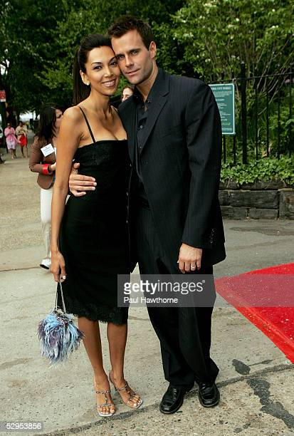 Actor Cameron Mathison and his wife Vanessa attend a reception in honor of the 32nd Annual Daytime Emmy Awards at Gracie Mansion May 19 2005 in New...