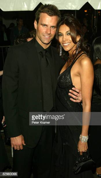 Actor Cameron Mathison and Vanessa Arevalo arrive at the 32nd Annual Daytime Emmy Awards at Radio City Music Hall on May 20 2005 in New York City
