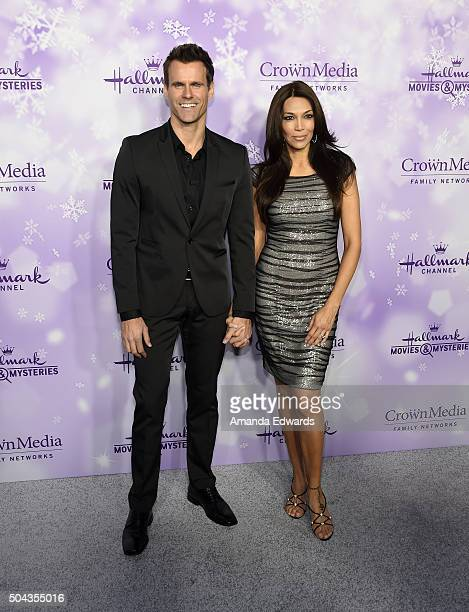 Actor Cameron Mathison and Vanessa Arevalo arrive at the Hallmark Channel and Hallmark Movies and Mysteries Winter 2016 TCA Press Tour at Tournament...