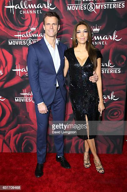 Actor Cameron Mathison and Vanessa Arevalo attend Hallmark Channel and Hallmark Movies and Mysteries Winter 2017 TCA Press Tour at The Tournament...