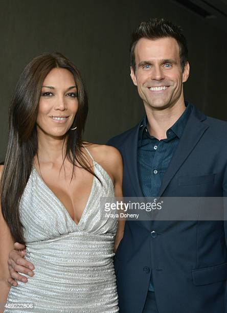 Actor Cameron Mathison and Vanessa Arevalo attend the American Humane Association's 5th Annual Hero Dog Awards 2015 at The Beverly Hilton Hotel on...