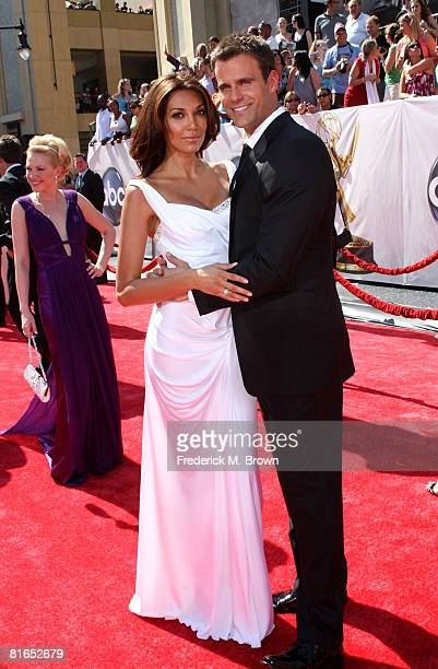 Actor Cameron Mathison and wife Vanessa Arevalo arrive at the 35th Annual Daytime Emmy Awards held at the Kodak Theatre on June 20 2008 in Hollywood...