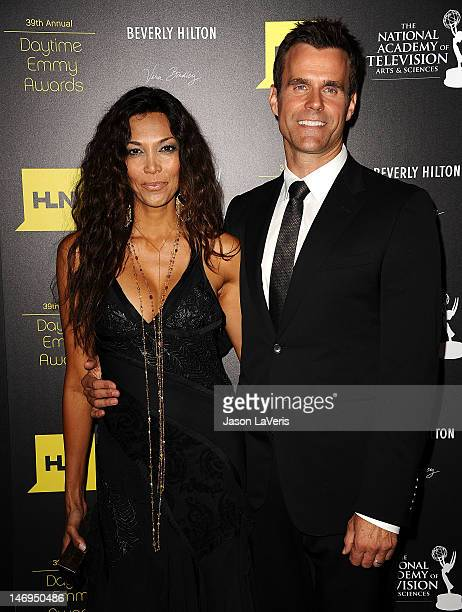 Actor Cameron Mathison and wife Vanessa Arevalo attend the 39th annual Daytime Emmy Awards at The Beverly Hilton Hotel on June 23 2012 in Beverly...