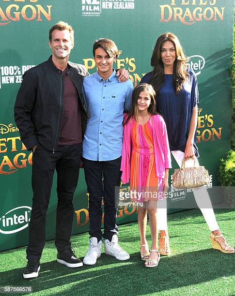 Actor Cameron Mathison wife Vanessa Arevalo and their children Lucas Arthur Mathison and Leila Emmanuelle Mathison attend the World Premiere of...
