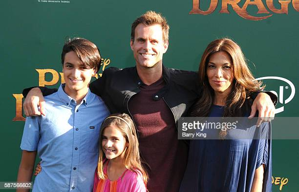 Actor Cameron Mathison, wife Vanessa Arevalo and their children Lucas Arthur Mathison and Leila Emmanuelle Mathison attend the World Premiere of...