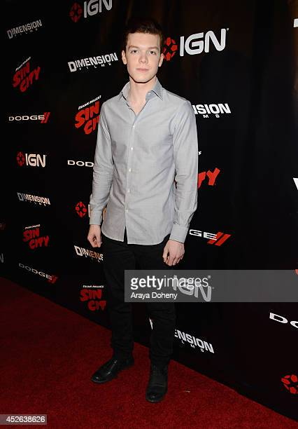 Actor Cameron Monaghan attends IGN Sin City A Dame to Kill For ComicCon International Party during ComicCon International 2014 at Hard Rock Hotel San...