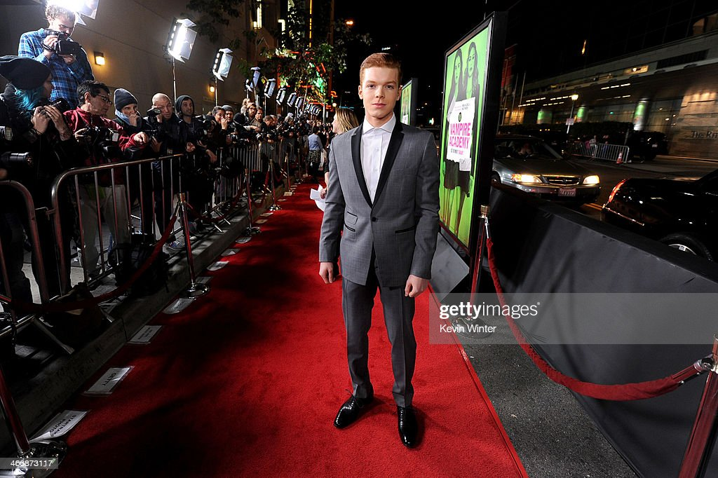 Actor Cameron Monaghan attends the premiere of The Weinstein Company's 'Vampire Academy' at Regal Cinemas L.A. Live on February 4, 2014 in Los Angeles, California.