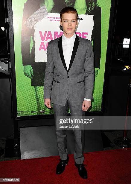 Actor Cameron Monaghan attends the premiere of 'Vampire Academy' at Regal Cinemas LA Live on February 4 2014 in Los Angeles California