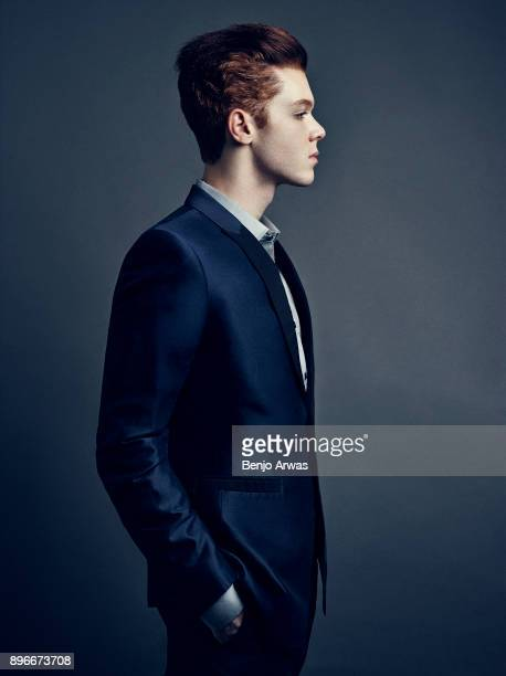 Actor Cameron Monaghan is photographed for Self Assignment on September 4 2014 in Los Angeles California