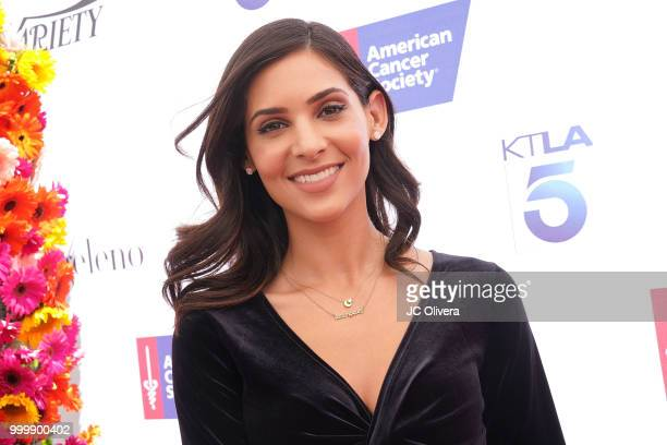 Layla Baradaran Phil Rosenthal and Lilly Rosenthal attend American Cancer Society's California Spirit 33 Gourmet Garden Party at Sony Pictures...