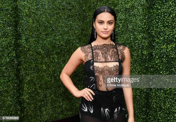 Actor Camila Mendes attends the 2018 MTV Movie And TV Awards at Barker Hangar on June 16, 2018 in Santa Monica, California.