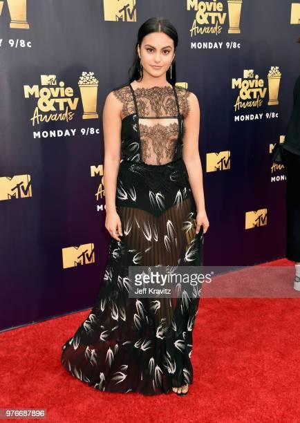 Actor Camila Mendes attends the 2018 MTV Movie And TV Awards at Barker Hangar on June 16 2018 in Santa Monica California