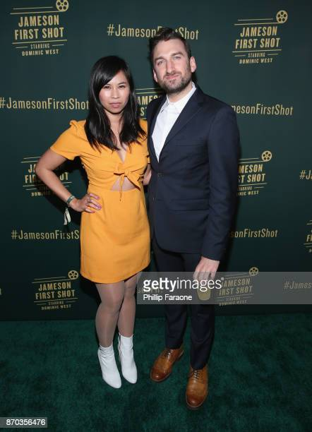 Actor Camille Mana and Ollie Wolf at Jameson First Shot at Paramount Studios on November 4 2017 in Hollywood California