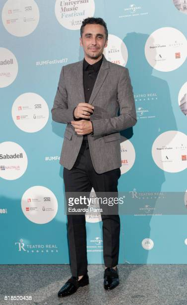 Actor Canco Rodriguez attends the 'Michel Camilo Tomatito concert' photocall at Royal Theatre on July 18 2017 in Madrid Spain