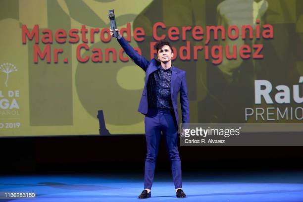 Actor Canco Rodriguez attends the 'Talent' award 2019 during the 22th Malaga Film Festival at the Cervantes Theater on March 16 2019 in Malaga Spain