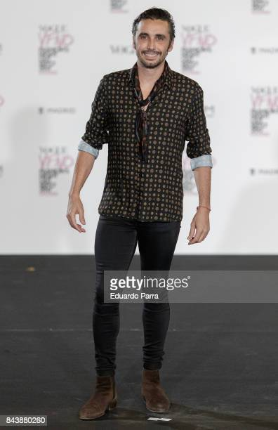 Actor Canco Rodriguez attends the 'Vogue fashion's Night Out' photocall at Ortega y Gasset street on September 7 2017 in Madrid Spain