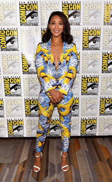 Actor Candice Patton at 'The Flash' Press Line during Comic-Con  International 2017