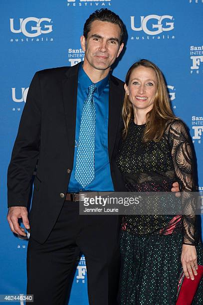 Actor Capkin Van Alphen and Celine Cousteau arrive at the Attenborough Award honoring the Cousteau family and world premiere screening of Secret...