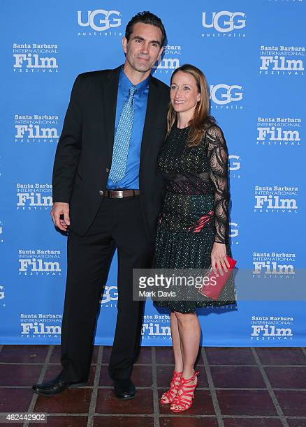 """Actor Capkin Van Alphen and Celine Cousteau attend the """"Attenborough Award"""" honoring the Cousteau family and world premiere screening of """"Secret..."""