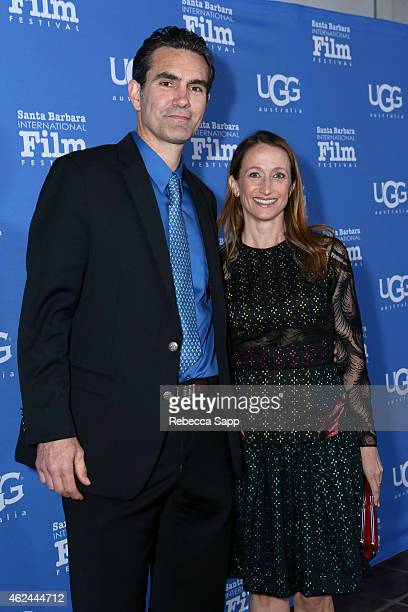 Actor Capkin Van Alphen and Celine Cousteau attend the Attenborough Award honoring the Cousteau family and world premiere screening of Secret Ocean...