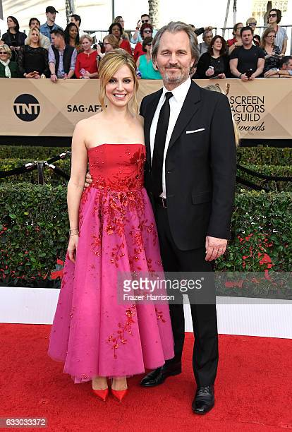Actor Cara Buono and Peter Thum attend The 23rd Annual Screen Actors Guild Awards at The Shrine Auditorium on January 29, 2017 in Los Angeles,...