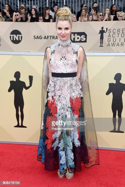 Actor Cara Buono attends the 24th Annual Screen ActorsGuild Awards at The Shrine Auditorium on January 21 2018 in Los Angeles California