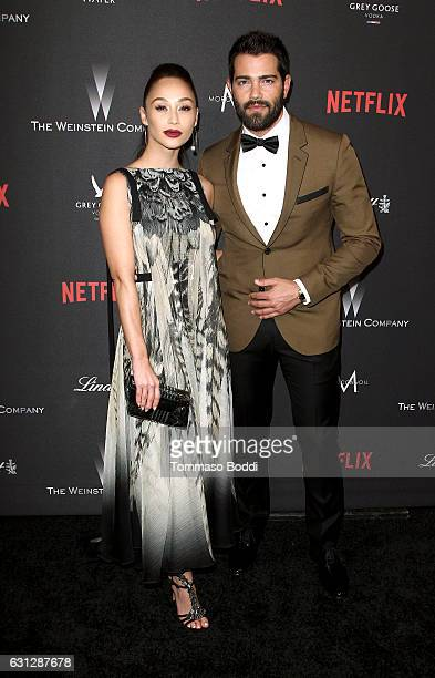 Actor Cara Santana and Jesse Metcalfe attend The Weinstein Company and Netflix Golden Globe Party presented with FIJI Water Grey Goose Vodka Lindt...