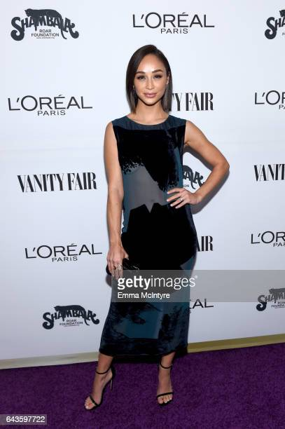 Actor Cara Santana attends Vanity Fair and L'Oreal Paris Toast to Young Hollywood hosted by Dakota Johnson and Krista Smith at Delilah on February 21...