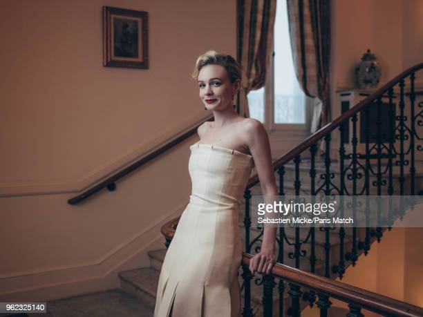 Actor Carey Mulligan is photographed at the 71st Cannes Film Festival wearing a Dior dress and Chaumet jewellery for Paris Match on May 9 2018 in...