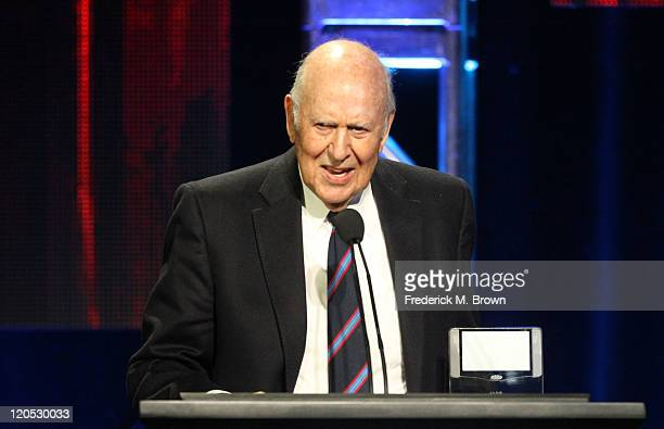 Actor Carl Reiner accepts the Heritage Award for the Dick Van Dyke Show onstage during the 27th Annual Television Critics Association Awards at the...
