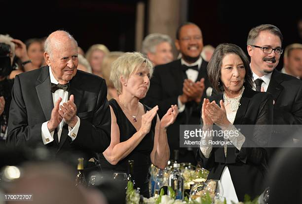 Actor Carl Reiner Holly Rice guest and Creator Producer Vince Gilligan attend the 41st AFI Life Achievement Award Honoring Mel Brooks at Dolby...