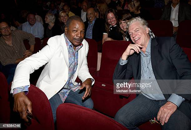 Actor Carl Weathers and actor Christopher McDonald attend the world premiere of UNITY at the DGA Theater on June 24 2015 in Los Angeles California