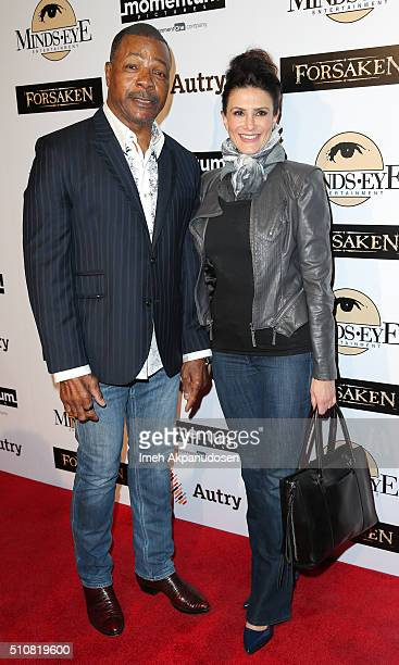 Actor Carl Weathers and actress Christine Kludjian attend the screening of Momentum Pictures' 'Forsaken' at Autry Museum of the American West on...