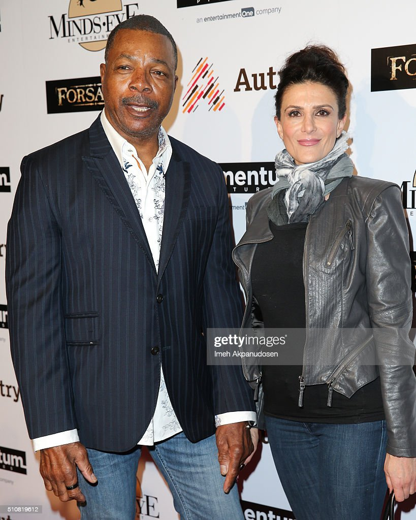 Actor Carl Weathers (L) and actress Christine Kludjian attend the screening of Momentum Pictures' 'Forsaken' at Autry Museum of the American West on February 16, 2016 in Los Angeles, California.
