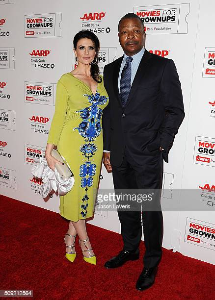 Actor Carl Weathers and guest attend the 15th annual Movies For Grownups Awards at the Beverly Wilshire Four Seasons Hotel on February 8 2016 in...