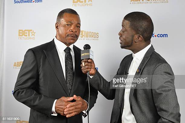 Actor Carl Weathers and Rae Holliday attend the 2016 ABFF Awards A Celebration Of Hollywood at The Beverly Hilton Hotel on February 21 2016 in...