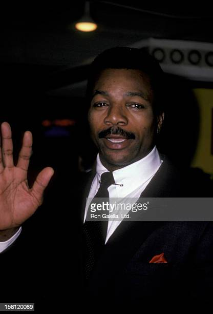 Actor Carl Weathers attending the premiere of 'Rocky IV' on November 21 1985 at Mann Village Theater in Westwood California