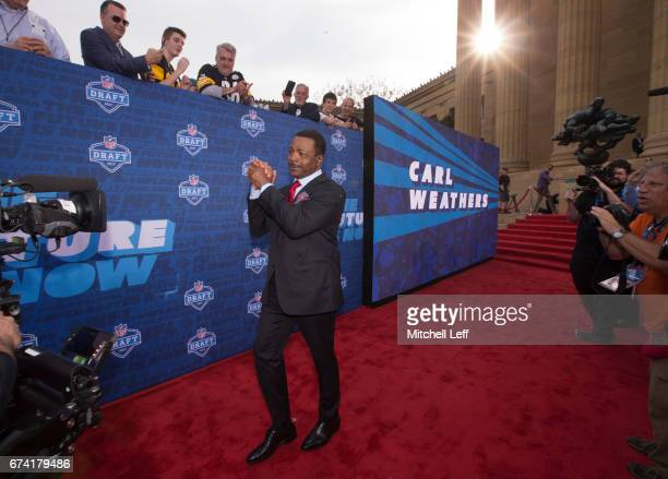 Actor Carl Weathers walks the red carpet prior to the start of the 2017 NFL Draft on April 27 2017 in Philadelphia Pennsylvania