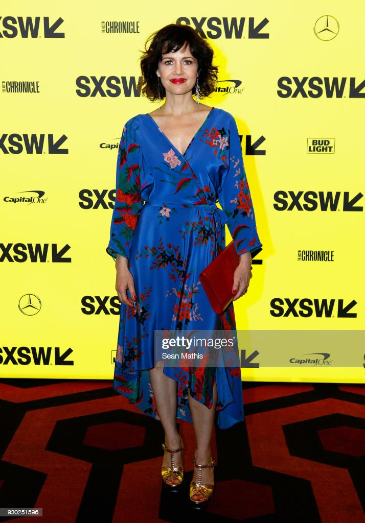 Actor Carla Gugino attends the premiere of 'Elizabeth Harvest' during at Alamo Lamar on March 10, 2018 in Austin, Texas.