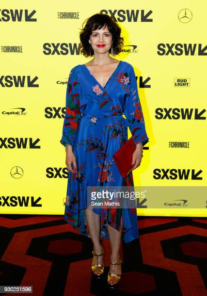 Actor Carla Gugino attends the premiere of Elizabeth Harvest during at Alamo Lamar on March 10 2018 in Austin Texas