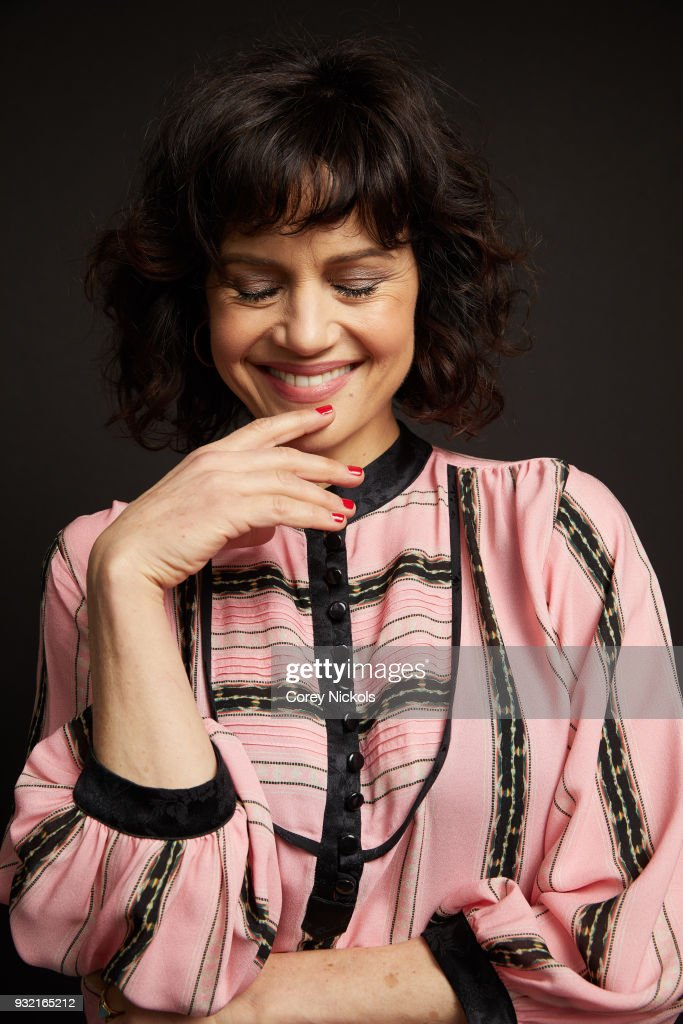 Actor Carla Gugino from the film 'Elizabeth Harvest' poses for a portrait in the Getty Images Portrait Studio Powered by Pizza Hut at the 2018 SXSW Film Festival on March 11, 2018 in Austin, Texas.