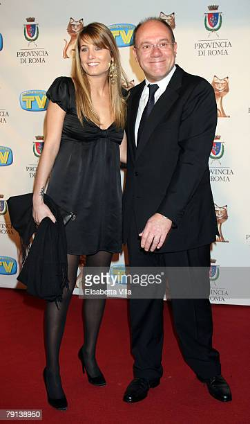 Actor Carlo Verdone and his daughter Giulia arrive at the Italian TV Awards ''Telegatti'' at the Auditorium Conciliazione on January 20, 2008 in...