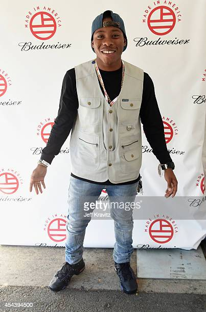 Actor Carlon Jeffery poses backstage during day 1 of the 2014 Budweiser Made In America Festival at Los Angeles Grand Park on August 30 2014 in Los...