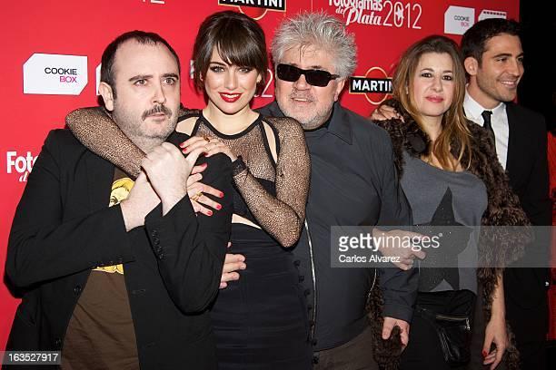 Actor Carlos Areces actress Blanca Suarez director Pedro Almodovar actress Pepa Charro actor and Miguel Angel Silvestre attend Fotogramas awards 2013...
