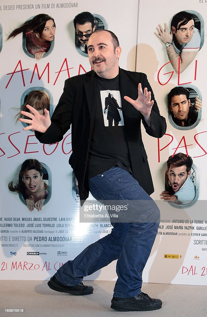 Actor Carlos Areces attends 'Los Amantes Pasajeros' (Gli Amanti Passeggeri) photocall at Residence Ripetta on March 14, 2013 in Rome, Italy.
